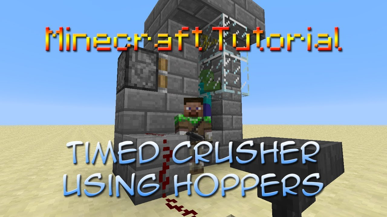 How to make a crusher in Minecraft 43