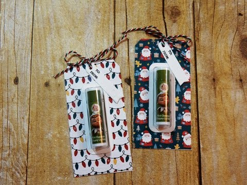 Not 2 Shabby Design Team Project | Lip Balm Holder Gift Tags