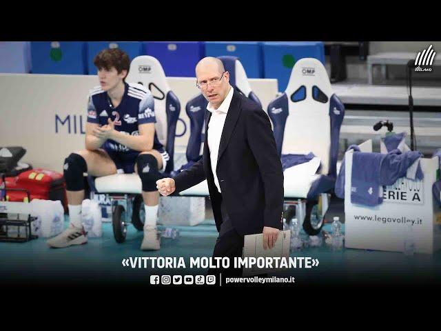 Superlega, intervista post Milano - Verona di Roberto Piazza