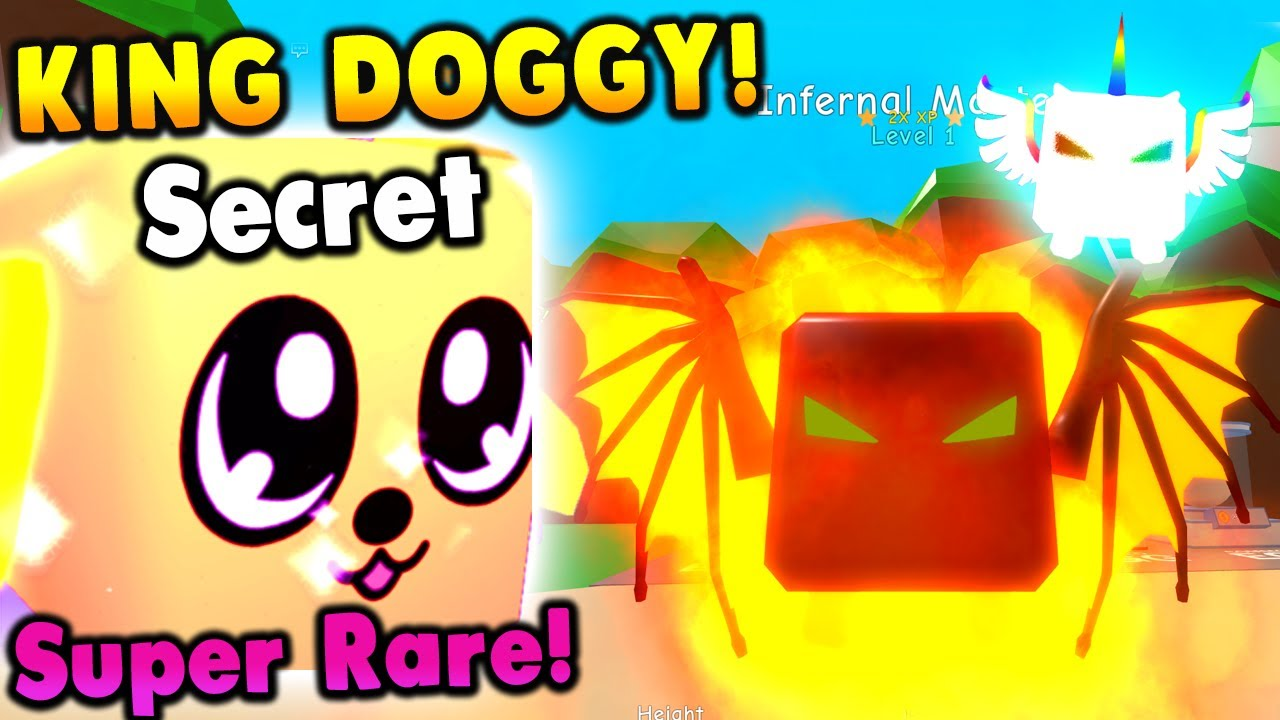 ?NEW Secret Pet King Doggy & Claiming 3 Reward Index Pets Roblox Bubble Gum Simulator