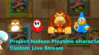 Mario Party 9 Project Hudson - Playable Characters Custom Live Stream [w/ Commentary]