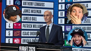 Fans reactions to the 2020 NBA Draft!