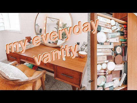 what's in my everyday vanity! | organize with me! thumbnail