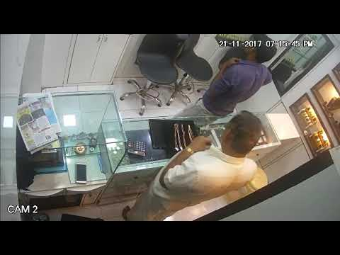 Thief run away with golden ornament from a jewellery shop: CCTV Footage 02