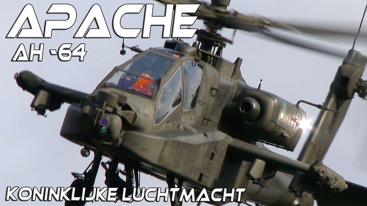 Apache AH-64 Solo Display Team Koninklijke Luchtmacht Netherlands .The Best Apache Demo .4K UHD.