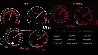 BMW 525d vs 535d vs M550d