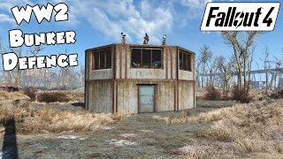 Fallout 4 - Best Settlement Defence (Bunker)