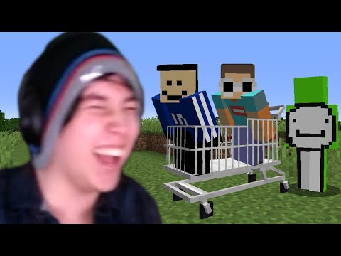Minecraft, But We Are In A Shopping Cart - Quackity
