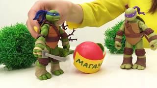 ToyClub шоу - Играем в Черепашки Ниндзя. Видео для детей