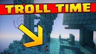 TROLL TIME : INSULA PLINA DE DIAMANTE !!! (Minecraft Trolling)