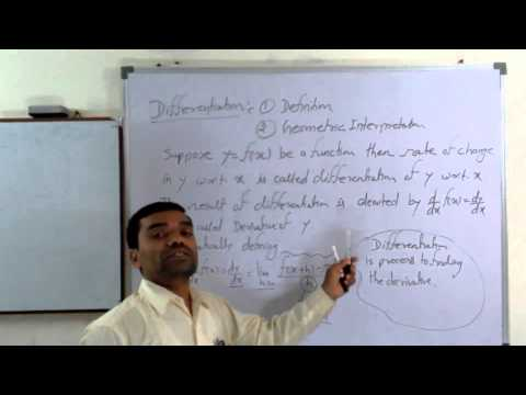 Concept of differentiation in Hindi