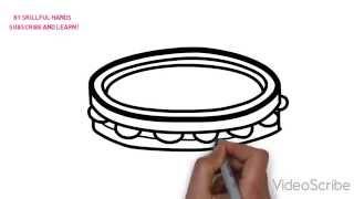How to Draw a tambourine / Как нарисовать бубен