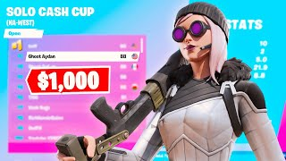 How I got 2nd Place and won $1,000 in the Solo Cash Cup *INSANE*