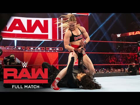 FULL MATCH - Ronda Rousey & Sasha Banks vs. Nia Jax & Tamina: Raw, Jan. 14, 2019