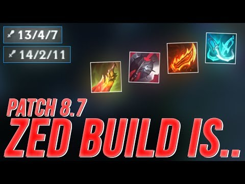 LL Stylish PATCH 8.7 ZED BUILD IS.. - UNRANKED TO CHALLENGER