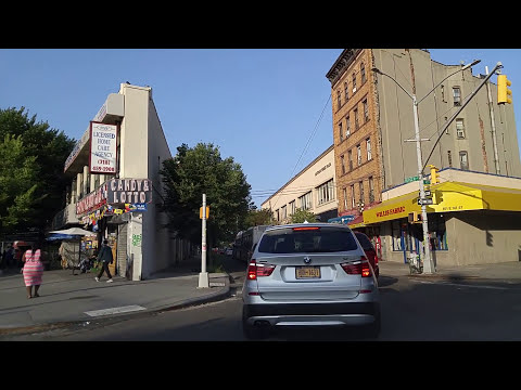 Driving from Mott Haven to West Farms in the Bronx,New York