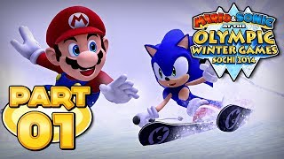 Mario and Sonic at the Sochi 2014 Olympic Winter Games - Part 01 - Alpine Skiing Downhill