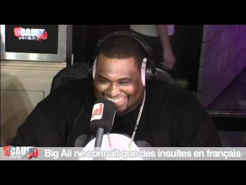 Big Ali ne connaît que des insultes en français ! C'Cauet sur NRJ