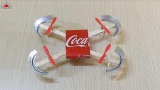 how to make a drone helicopter at home diy coca cola drone