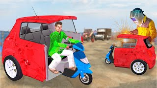 स्कूटर कार  Scooter Car Funny Kahani हिंदी कहानियां Hindi Kahaniya Funny Comedy Video Hindi Stories