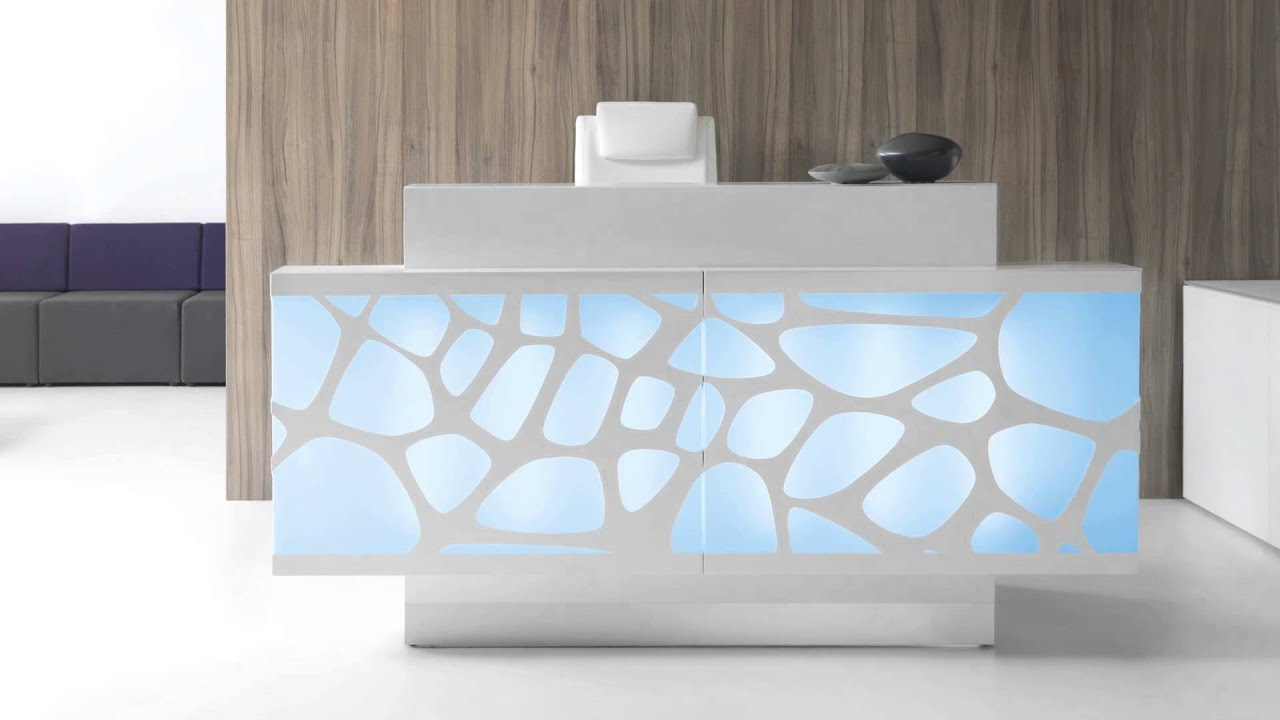 Reception desks modern office furniture youtube for Wedding table organizer