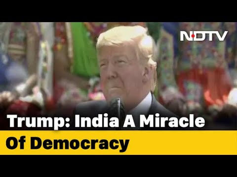 Watch Donald Trump's Full Speech At Mega Ahmedabad Event