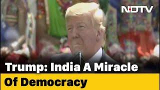 Watch Donald Trump's Full Speech At Mega Ahmedabad Event