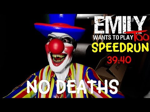 """Emily Wants to Play Too Full Game & SpeedRun """"No Deaths""""  Gameplay Playthrough (No Commentary)"""