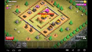 Fort Knobs - Town Hall Level 3 - 2 Star - 35 Archers, 7 Giants - Simple Clash of Clans