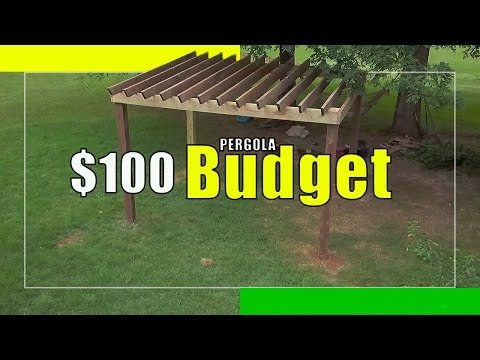 DIY building/installing a pergola using salvaged lumber