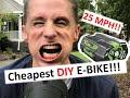 CHEAPEST DIY E-BIKE USING LEAF BLOWER BATTERIES!!