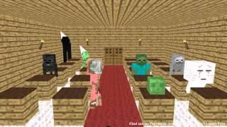 Minecraft Animation - Monster School Lawak Gila Enderman Dah Mabuk