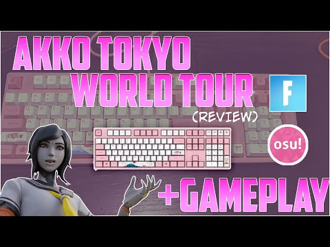 🌸 KAWAII KEYBOARD 🌸 | AKKO World Tour Review + Gameplay (Fortnite, Osu!)