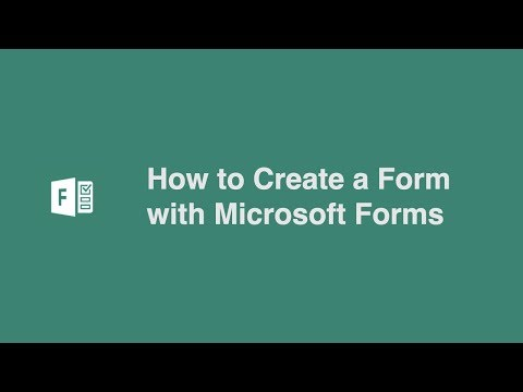 How to Create a Form with Microsoft Forms