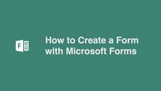 Microsoft ile bir Form Oluşturma Formlar