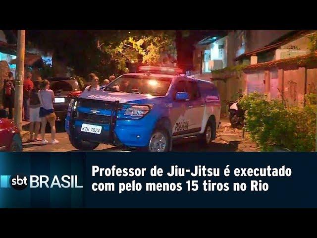 Professor de Jiu-Jitsu é executado com pelo menos 15 tiros no Rio de Janeiro | SBT Brasil (08/03/19)