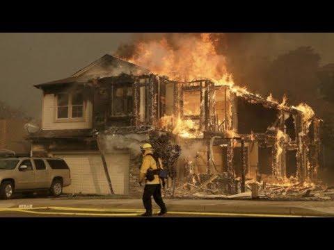 "Breaking ""California Wildfires 10 Dead"" 20,000 Evacuated ..."