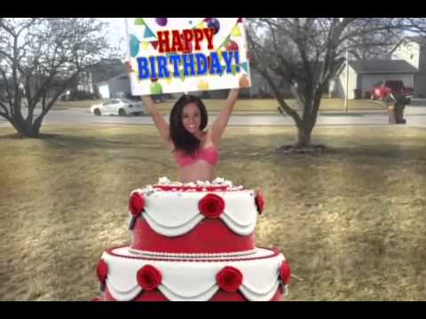 Midget Dancer Popping Out Of A Cake