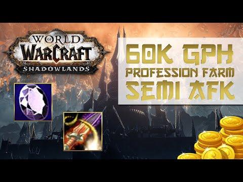 WoW Shadowlands Profession Flip – 60k GPH – Semi – AFK Gold Farm – Jewelcrafting & Enchanting