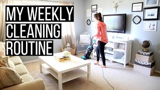 My Weekly Cleaning Routine | hayleypaige