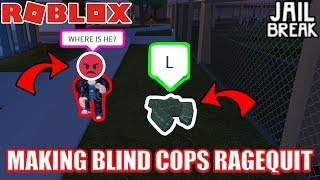 INVISIBLE MAN rend les flics RAGE QUIT!!! | Jailbreak Roblox