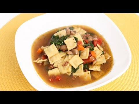 Mini Ravioli Soup Recipe – Laura Vitale – Laura in the Kitchen Episode 641