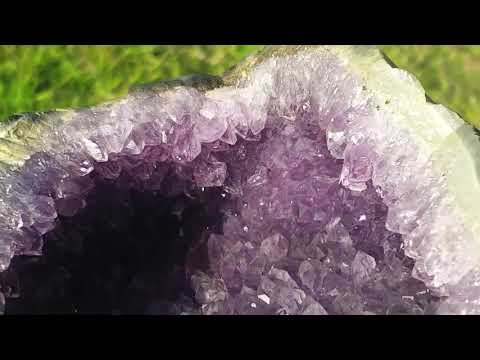 Amethyst Geode after cleaning...so SHINY