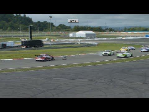 Audi Sport TT Cup 2017. Race 2 Nürburgring. Start Crash