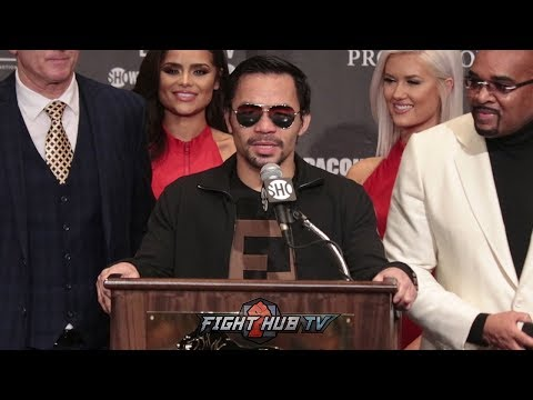 MANNY PACQUIAO'S FULL POST FIGHT PRESS CONFERENCE -PACQUIAO VS BRONER