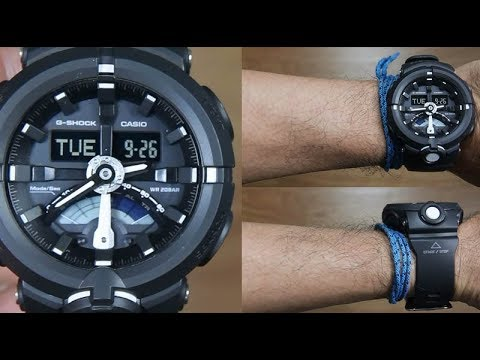 ce61cd24930 CASIO G-SHOCK FULL BLACK GA-500-1A - UNBOXING - YouTube