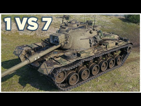 M48A5 Patton • 1 vs 7 • Three Marks of Excellence • WoT Gameplay