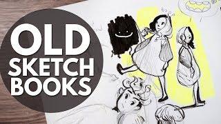 Old Sketchbook Tour // Two Unfinished Sketchbooks