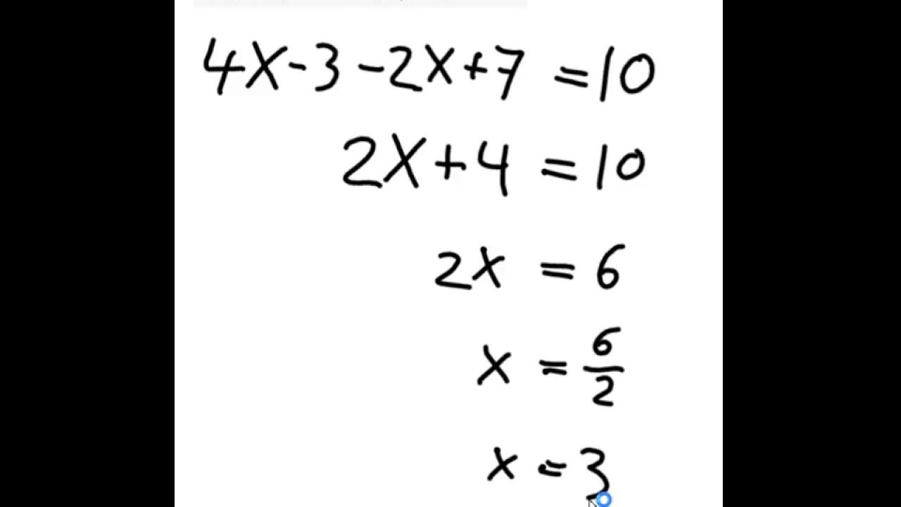 løs simpel ligning