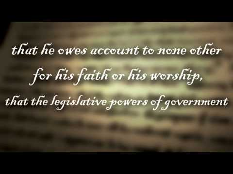 The Constitution and Separation of Church and State